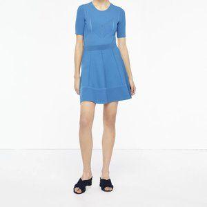 Sandro Flared Stretch-Ponte Mini Skirt M 3
